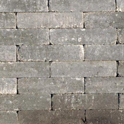 Excluton - Waalformaat Getrommeld - 20x5x7cm - Grijs/Zwart