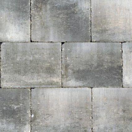 Excluton - Abbeystones - 20x30x6 cm - Grijs-Zwart