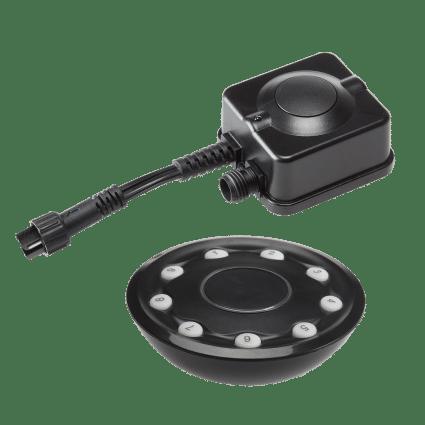 Garden Lights - Licht accessoire 12V Afstandsbediening + ontvanger, max 150W - Zwart